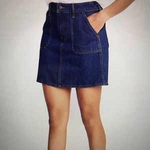 Utility-Pocket Denim Skirt for Women